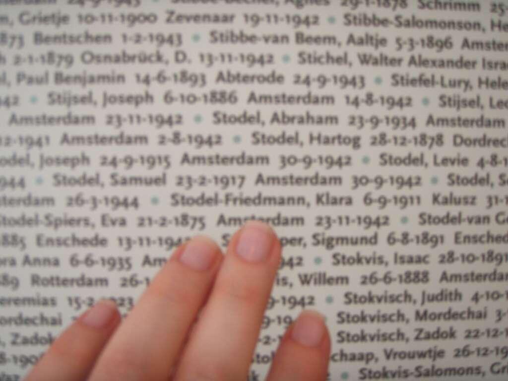 Yad Vashem - LIsta de sobrenomes