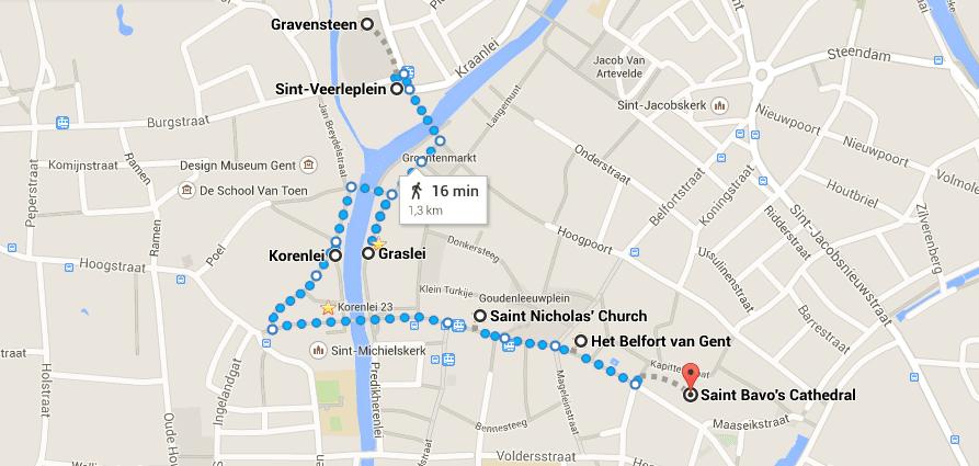 Passeio em Ghent - Google Maps