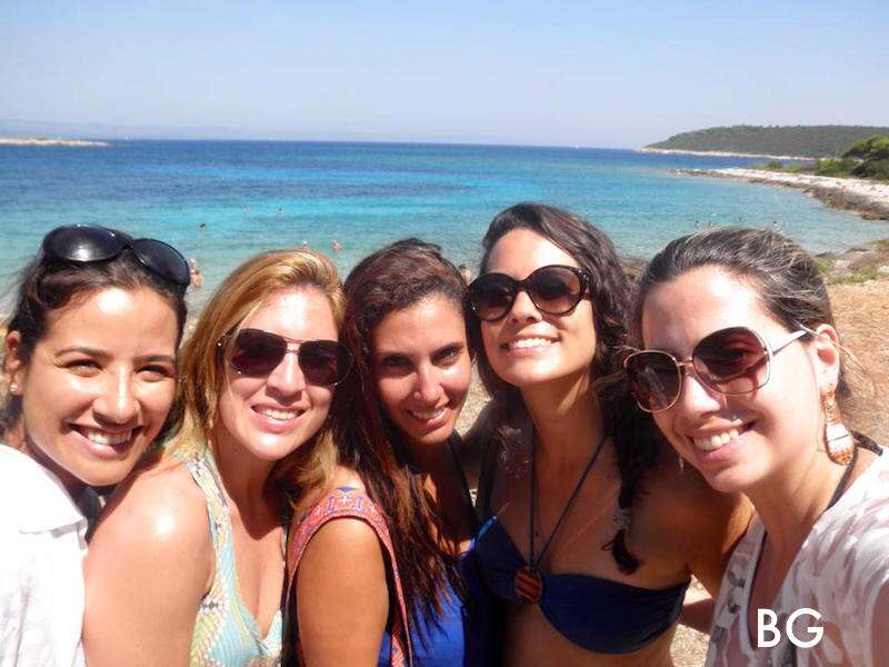 Bianca e suas amigas em Korkula - Croácia