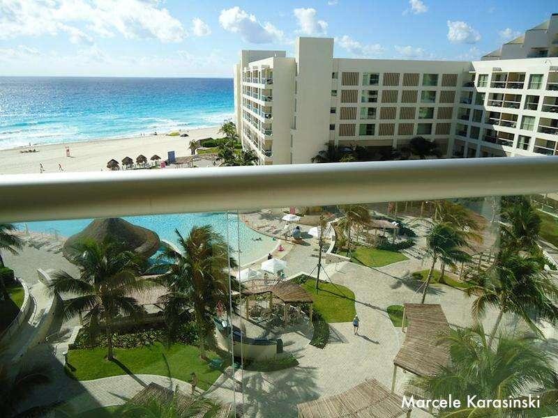 Vista do nosso quarto no The Westin Lagunamar em Cancun