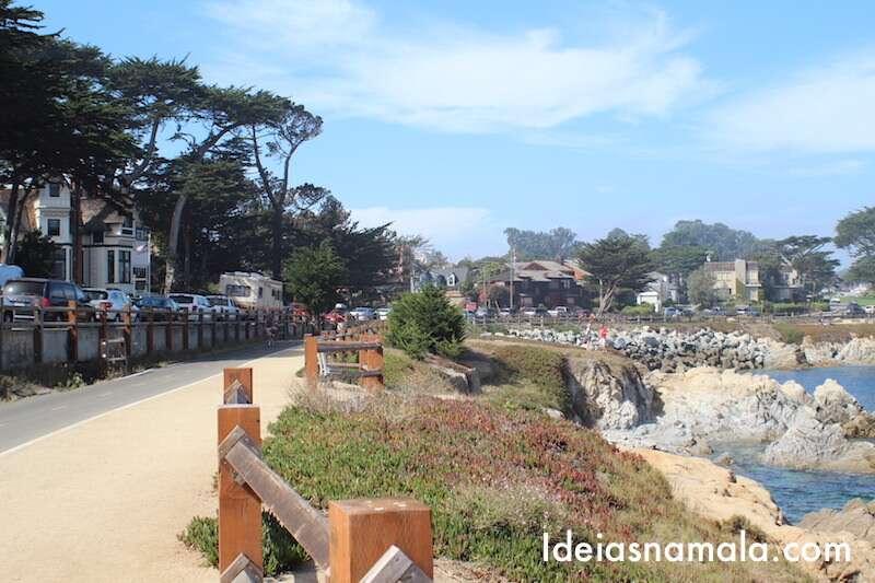 Faixa de bicicleta em Monterey