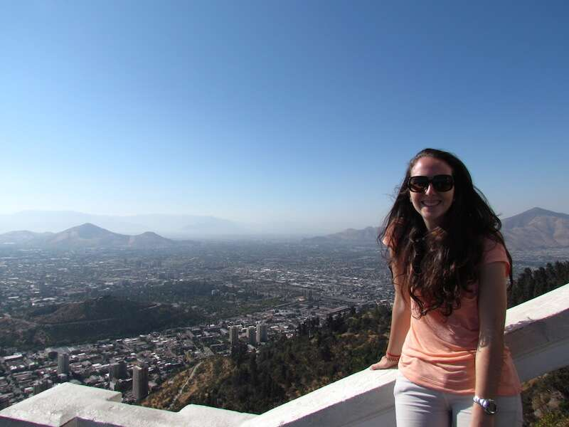 Vista do alto de Cerro San Cristóbal
