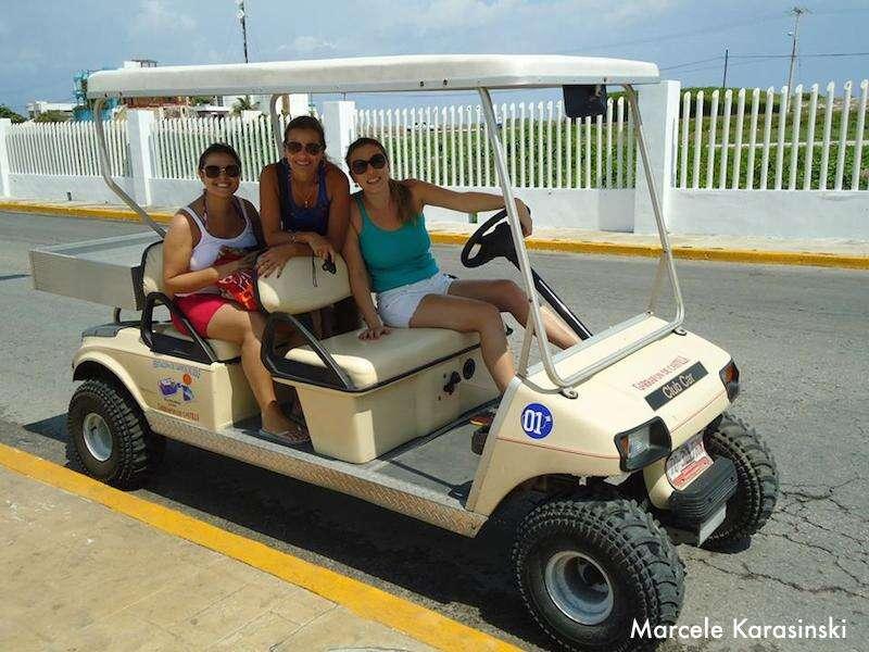 Isla Mujeres - carro de golf