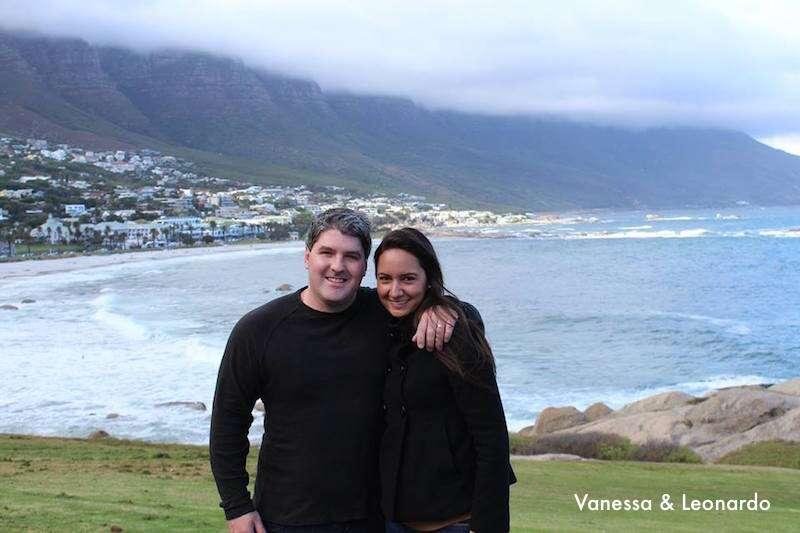 Leo e Vanessa em Cape Town