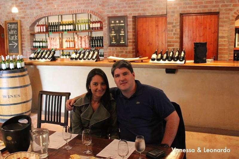 Degustação de vinhos na África do Sul