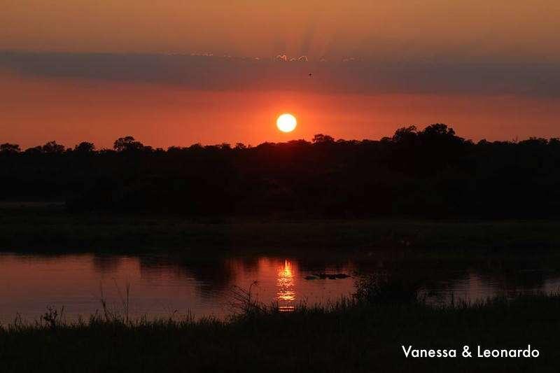 Pôr do sol no Safari
