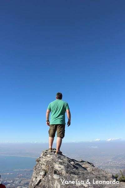 Vista do alto da Table Mountain