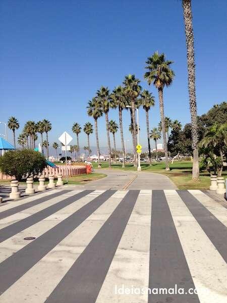 Ciclo faixa em Santa Monica