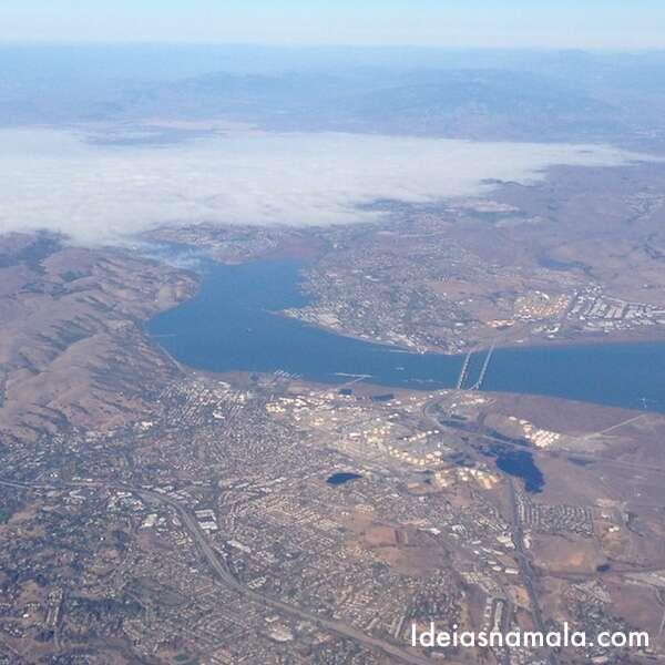 Rio visto do avião