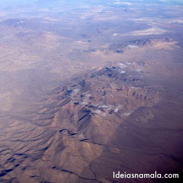 Deserto visto do avião