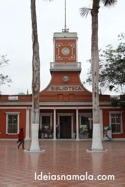 Praça central do Barranco