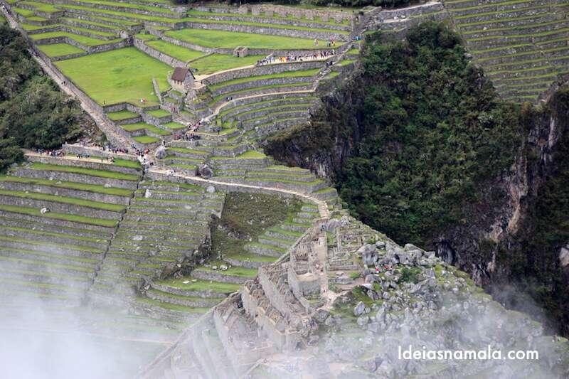 Machu Picchu visto do alto de Wayna Picchu