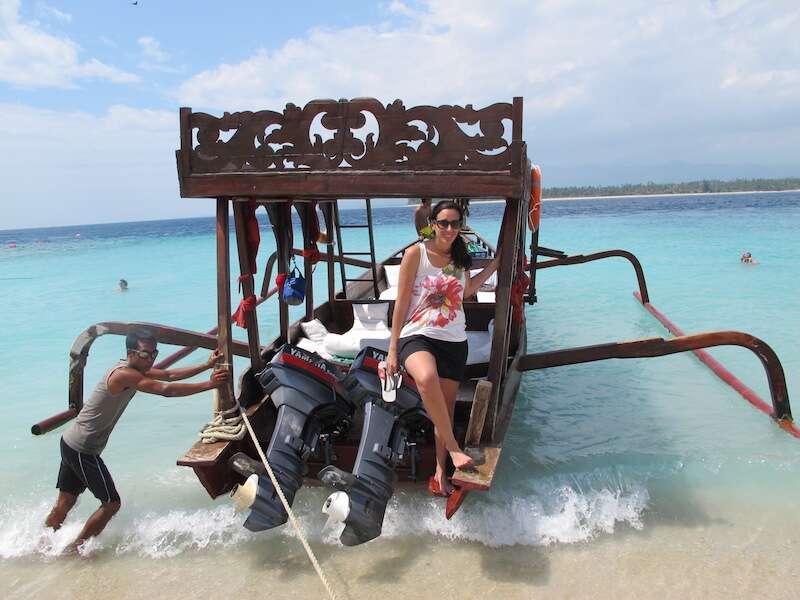Barco alugado em Lombok