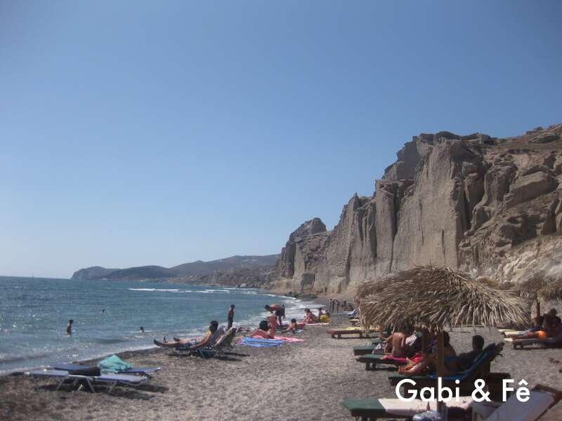 Praia Eros em Santorini