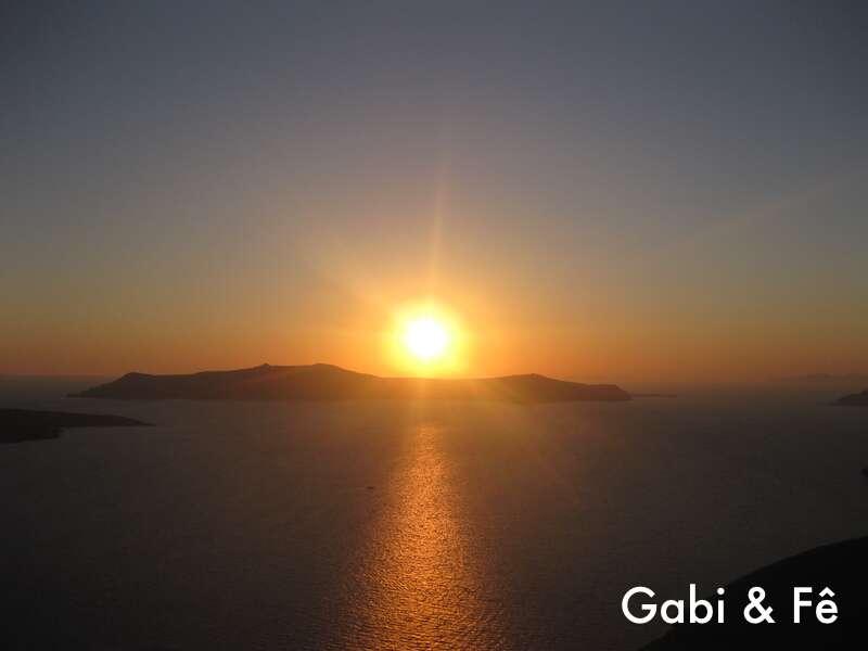 Pôr do Sol em Fira - Grécia
