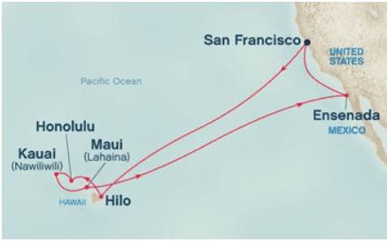Mapa Cruzeiro havaí