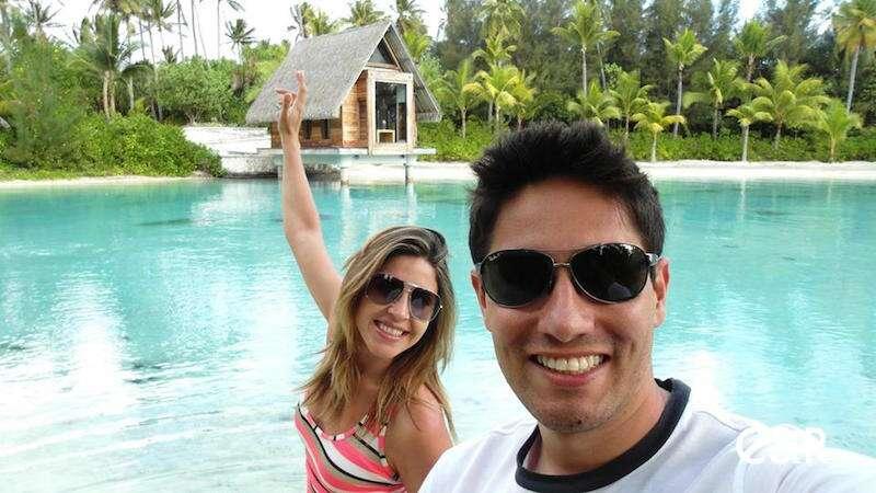 Cris e Rafael no Tahiti