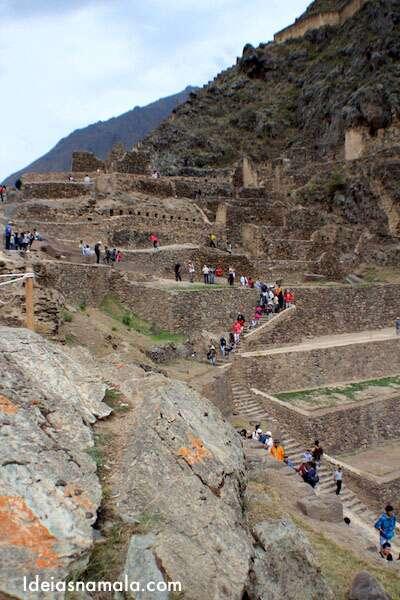 Terraços em Ollantaytambo