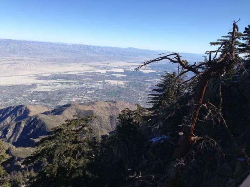 Vista do alto do Tram - Palm Springs