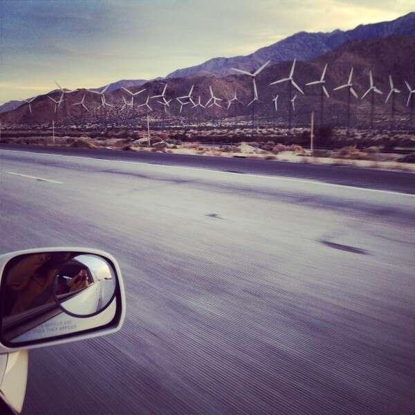 Chegada em Palm Springs