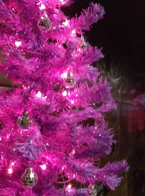 Árvore de Natal Rosa no Hard Rock