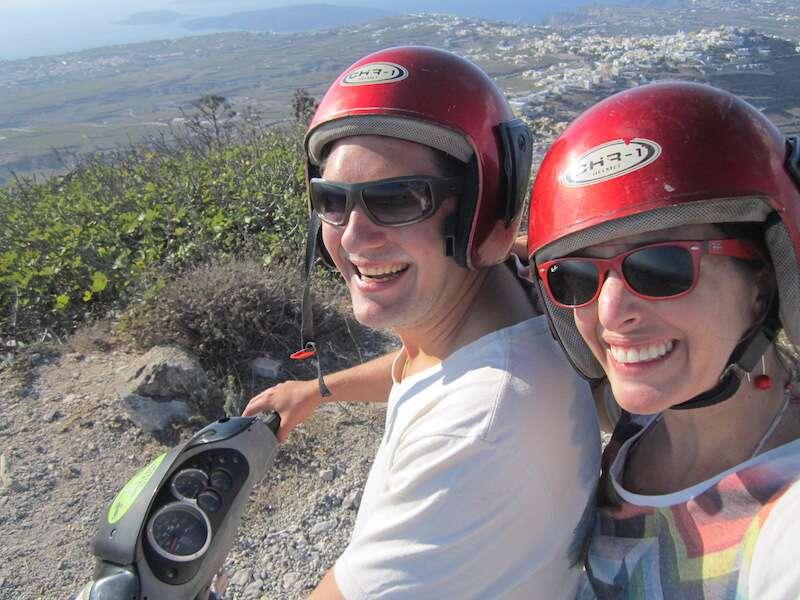 Passeio de scooter Santorini