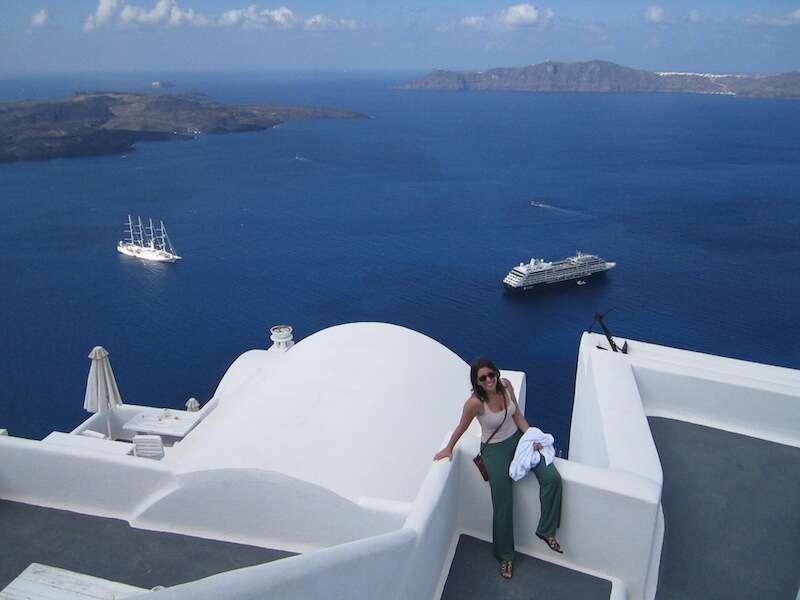 vista Homeric Poems - hotel Santorini