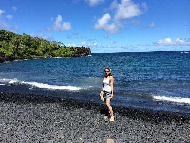 Black Sand Beach em Maui