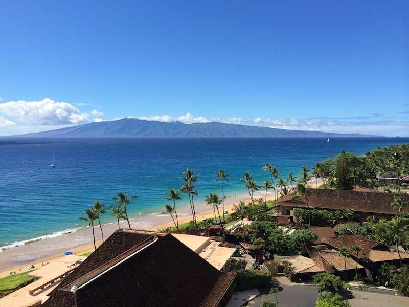 Vista do Hotel Lahaina em Maui