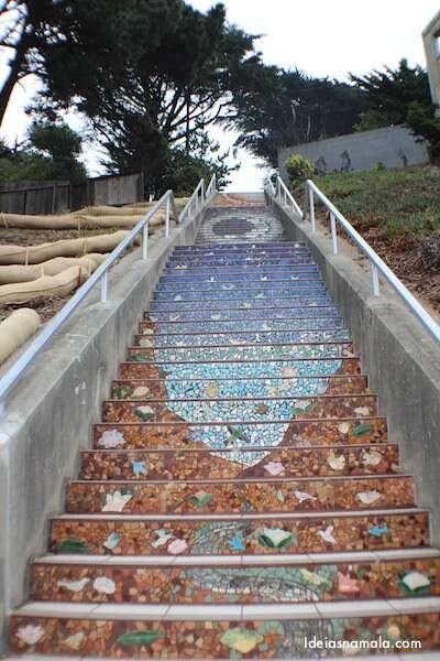 Montanha - Escadaria Mosaico - San Francisco