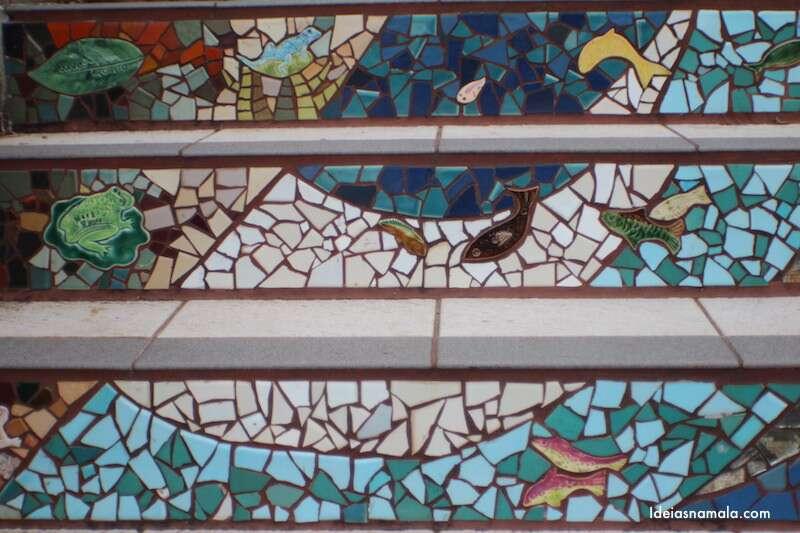 Detalhe - Escadaria Mosaico - San Francisco