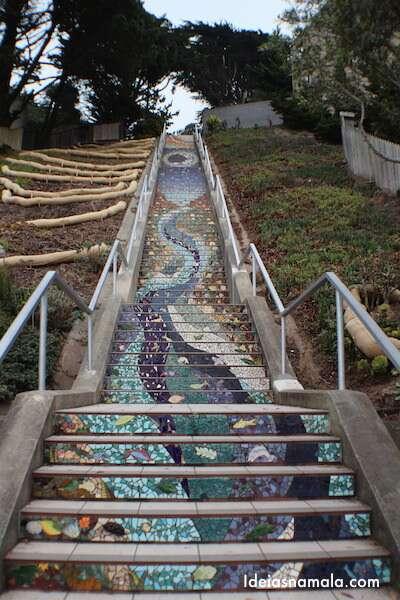 Escadaria Mosaico - San Francisco