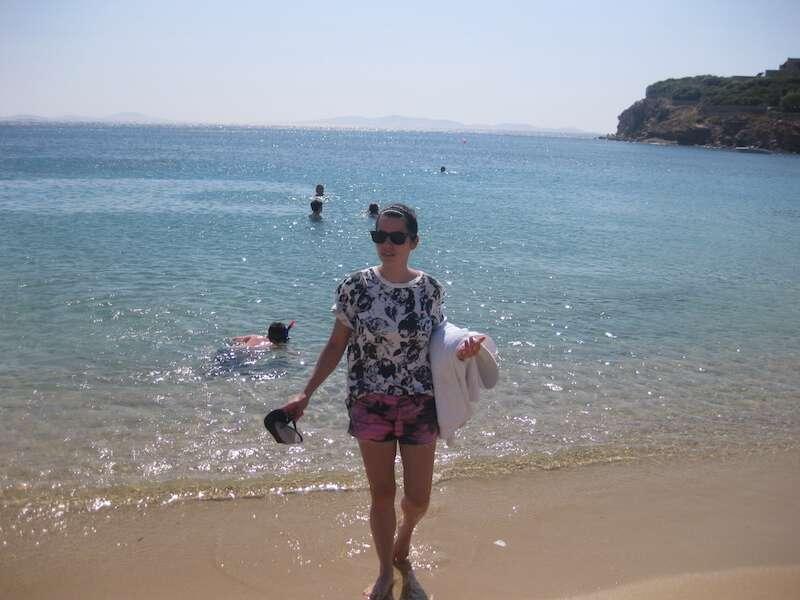 Praia em Ágios Stefanos - Mykonos
