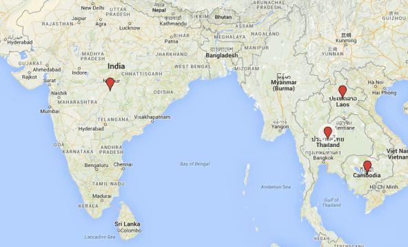 Mapa | Ideias na Ásia
