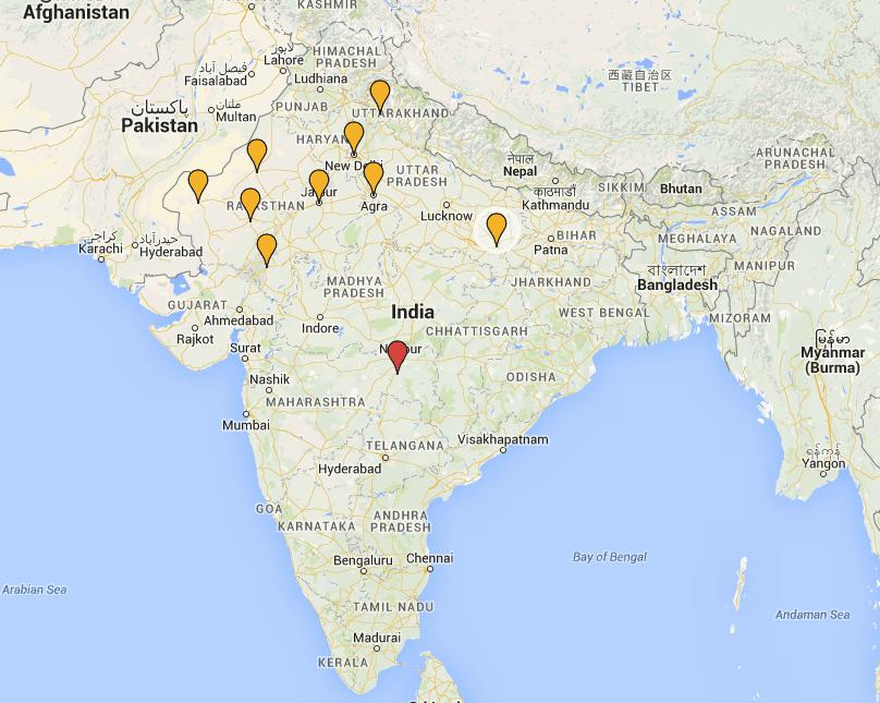 Ideias na Ásia: cidades da India