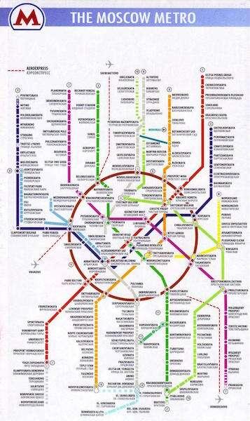 Mapa de metrô de Moscou