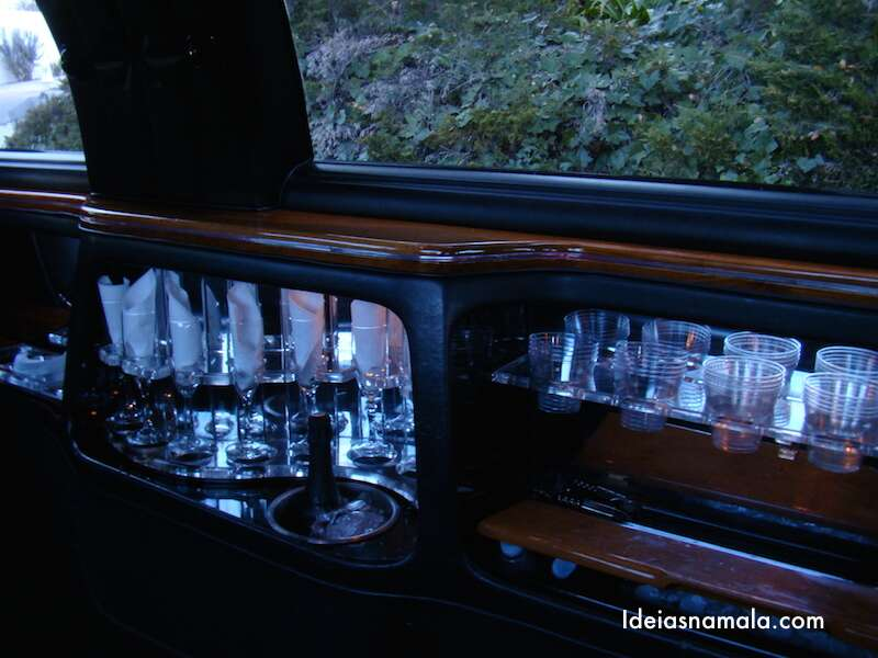 Dentro da Limousine