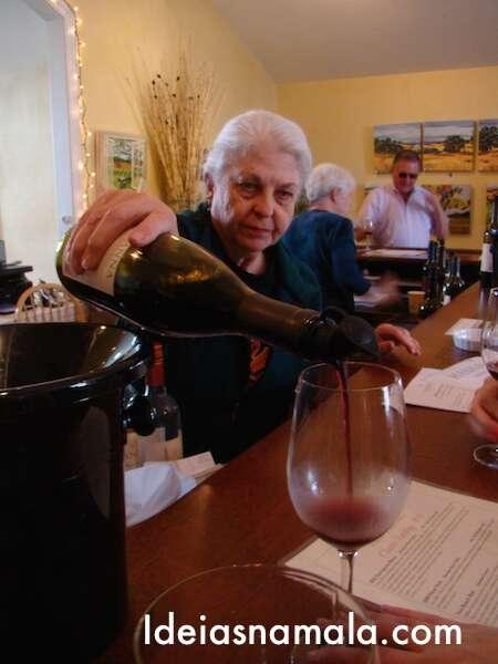 Degustação de vinhos na Hanna