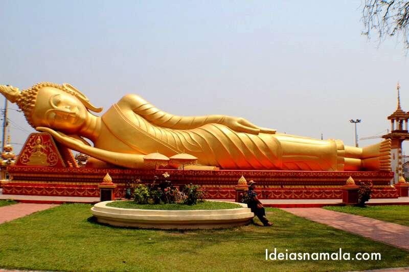 Buda deitado - Vientiane