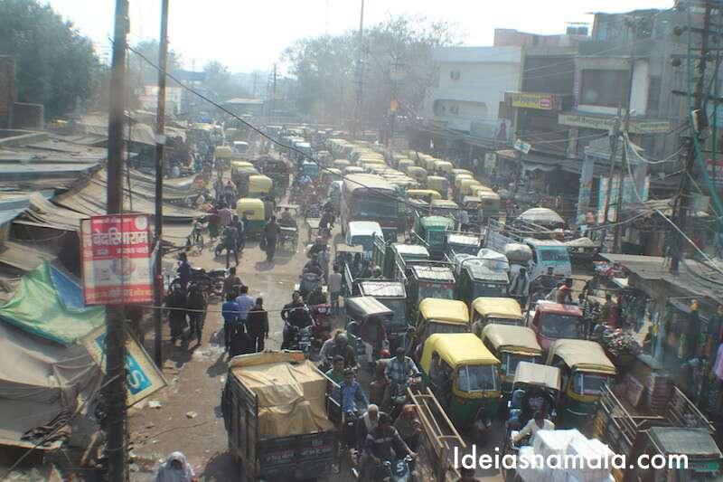 congestionamento de tuk tuk