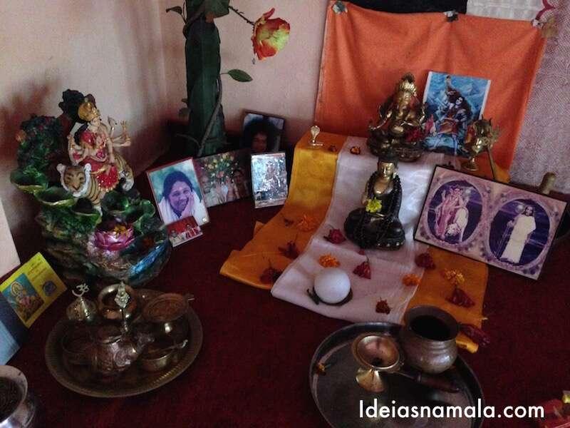 Altar na Sala de Yoga