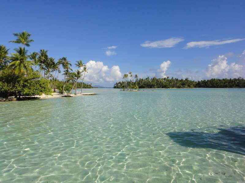 Praia em Tahaa - Tahiti