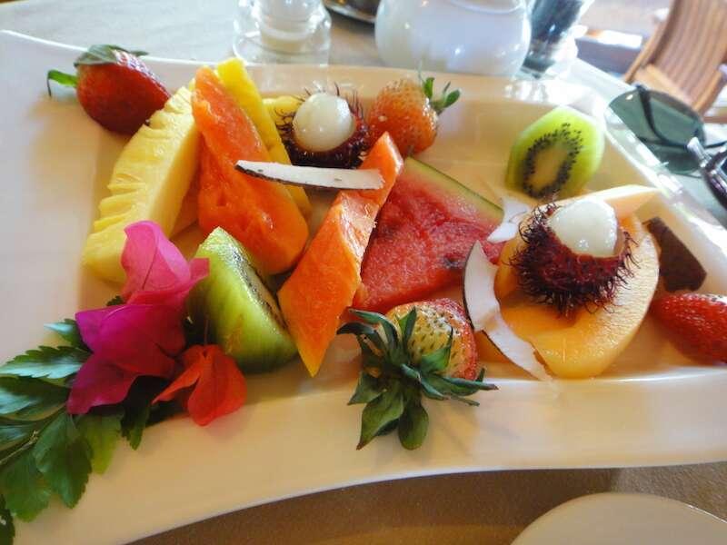 Tahiti - Café da manhã do hotel