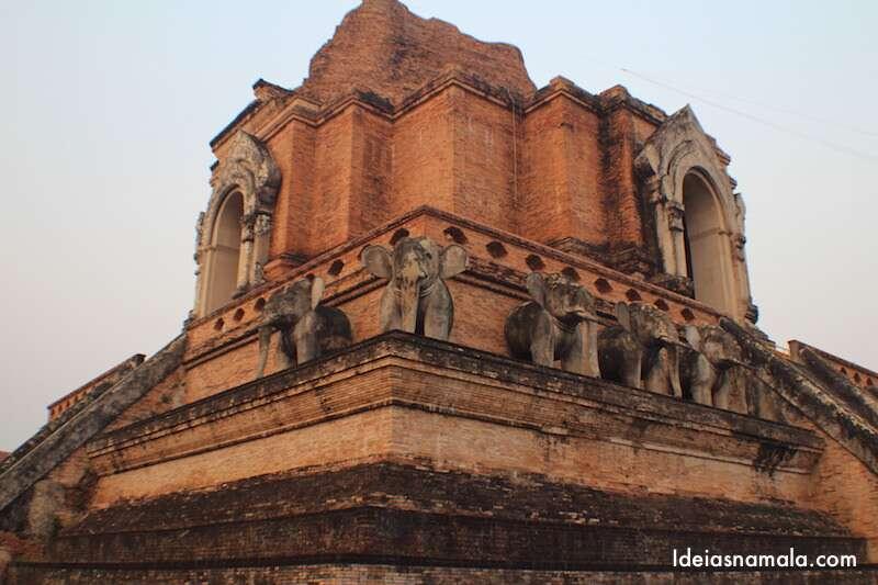 Templo em Chiang Mai no Norte da Tailândia