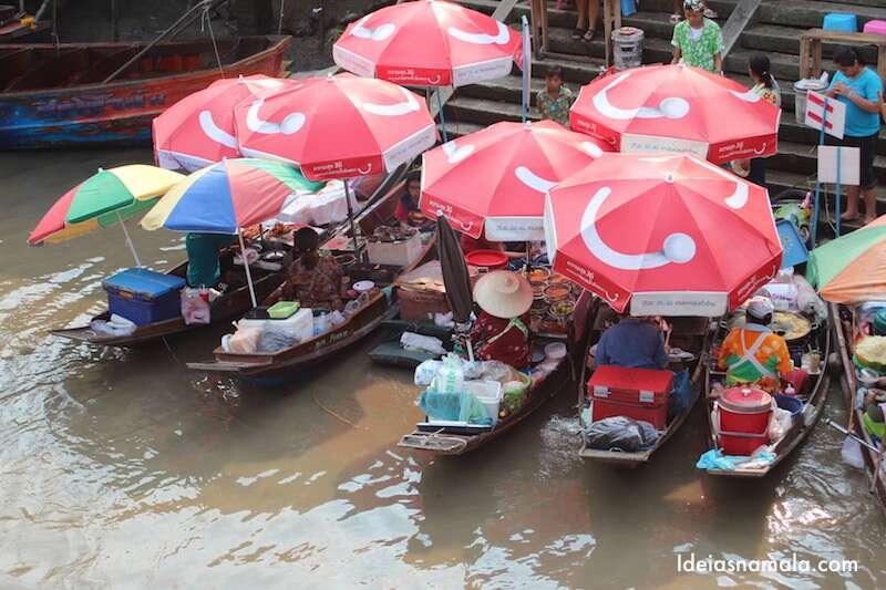 Mercado flutuante Amphawa - Tailândia