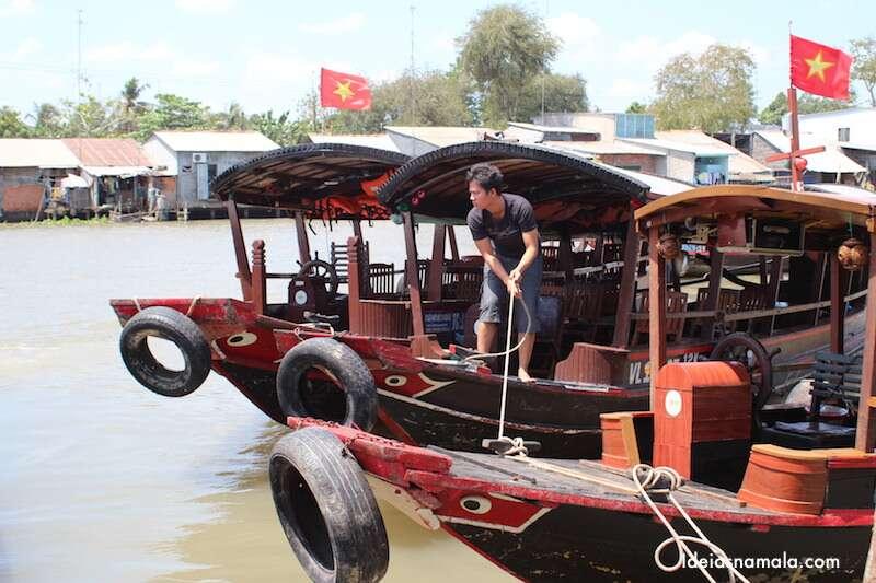 Barco turistico - Delta do Mekong
