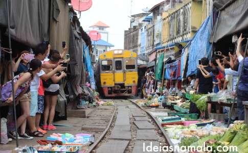 Mercado de Maeklong - Tailândia