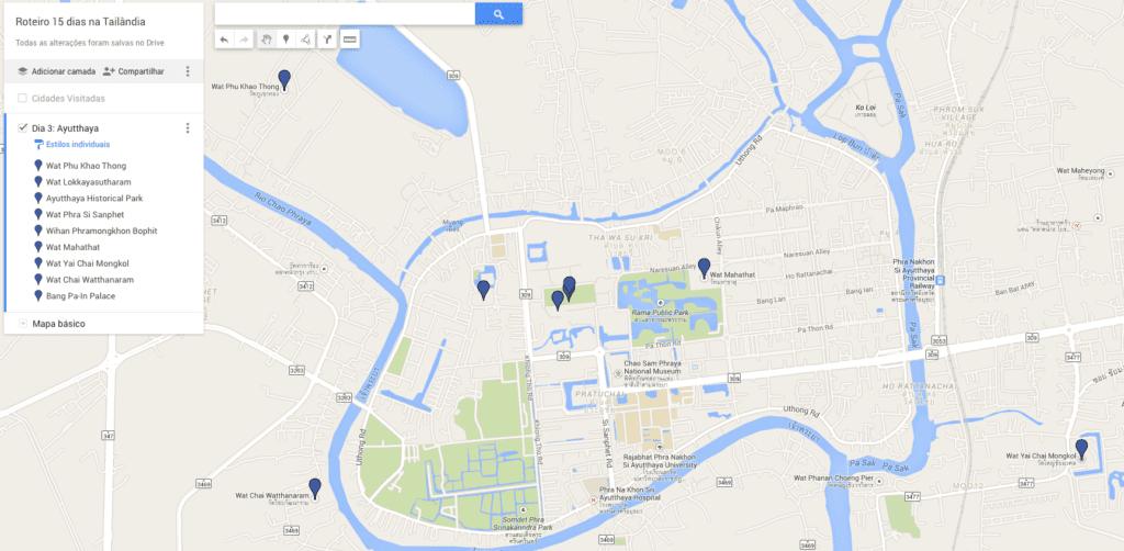 Ayutthaya no Mapa