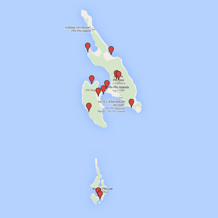 Mapa Koh Phi Phi