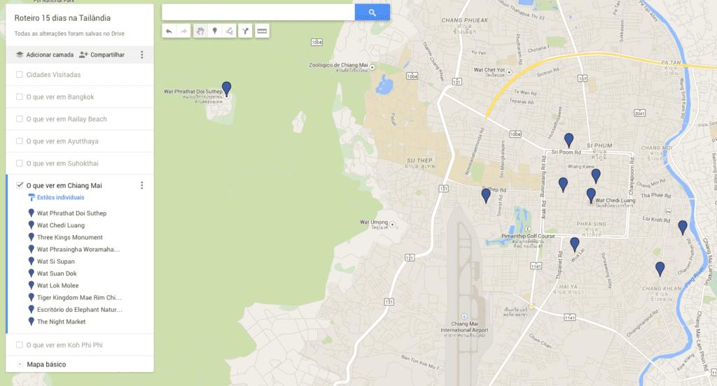 Chiang Mai no mapa